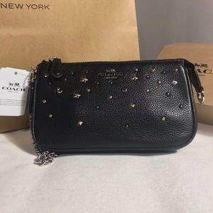 Wristlet Pebbled Leather Wallet